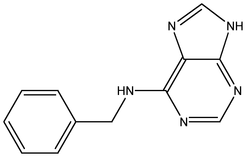 Chemical Structure for 6-Benzylaminopurine