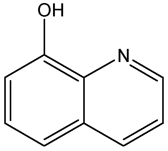 Chemical Structure for 8-Hydroxyquinoline
