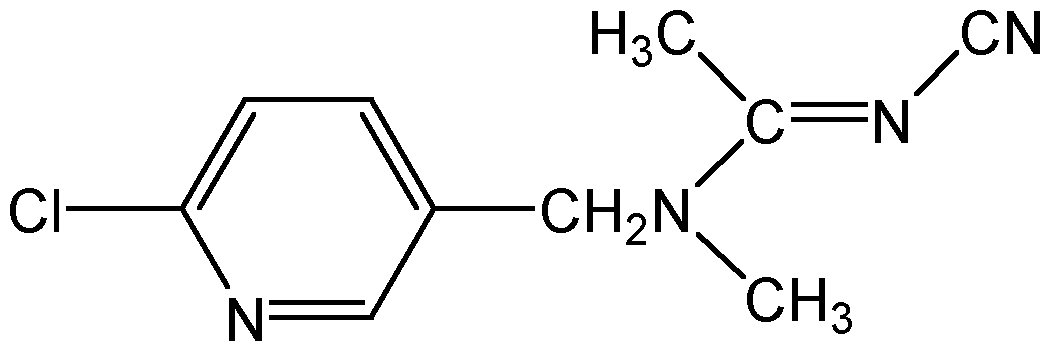 Chemical Structure for Acetamiprid