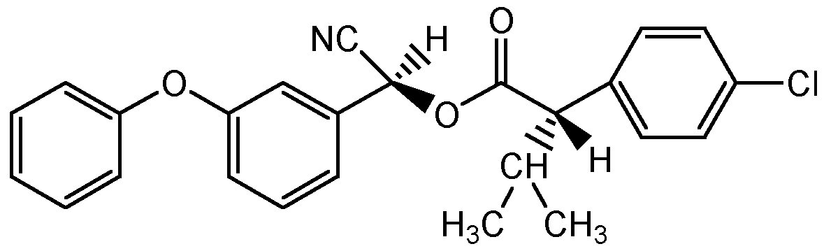 Chemical Structure for Esfenvalerate