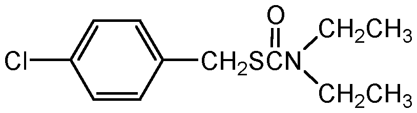 Chemical Structure for Benthiocarb