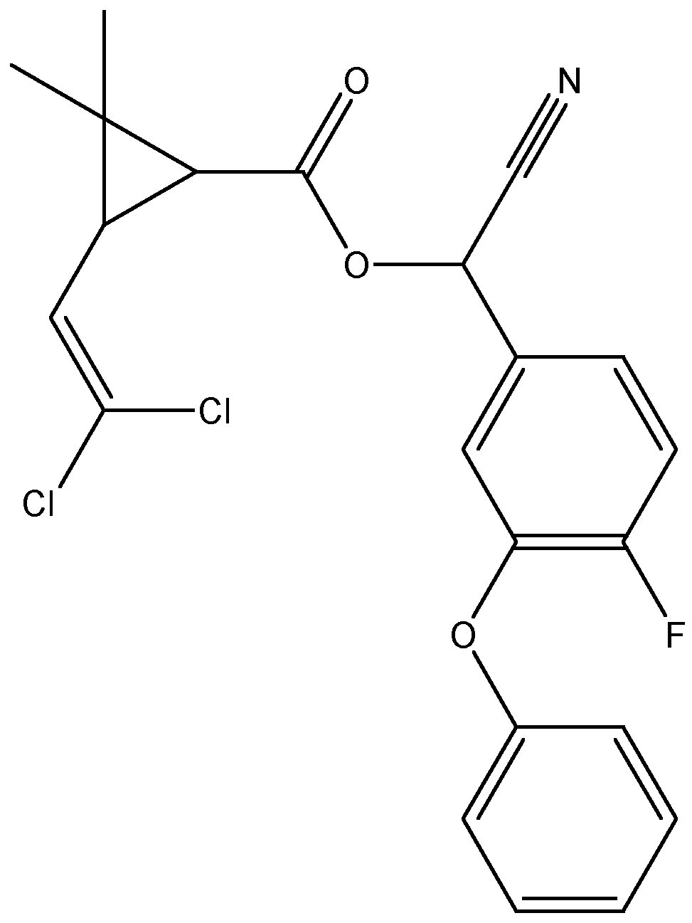 Chemical Structure for beta-Cyfluthrin