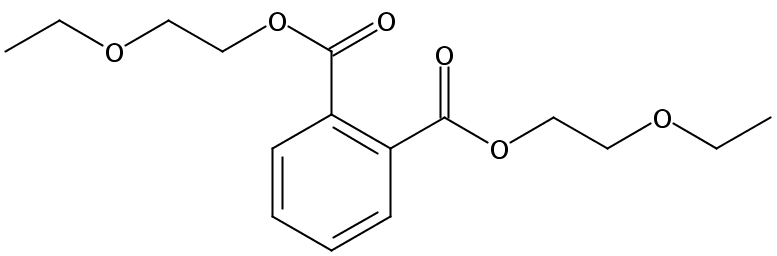 Chemical Structure for Bis(2-ethoxyethyl)phthalate