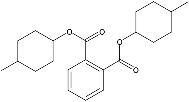 Chemical Structure for Bis(4-methylcyclohexyl)phthalate