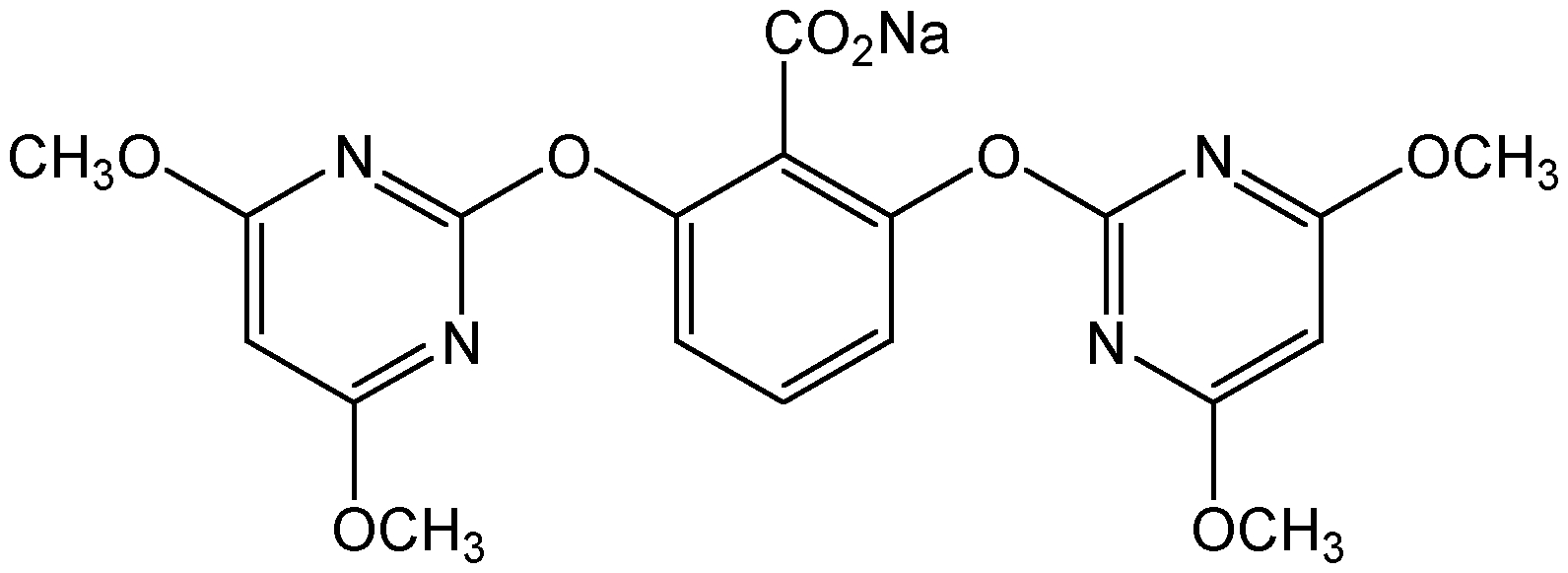 Chemical Structure for Bispyribac Sodium