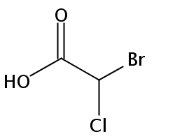 Chemical Structure for Bromochloroacetic acid