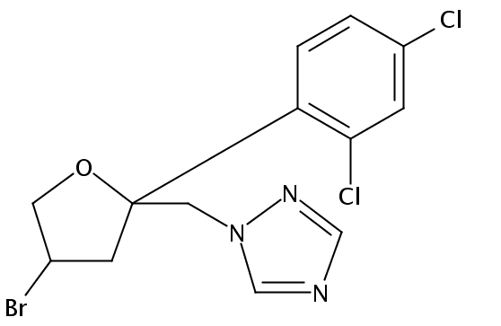 Chemical Structure for Bromuconazole