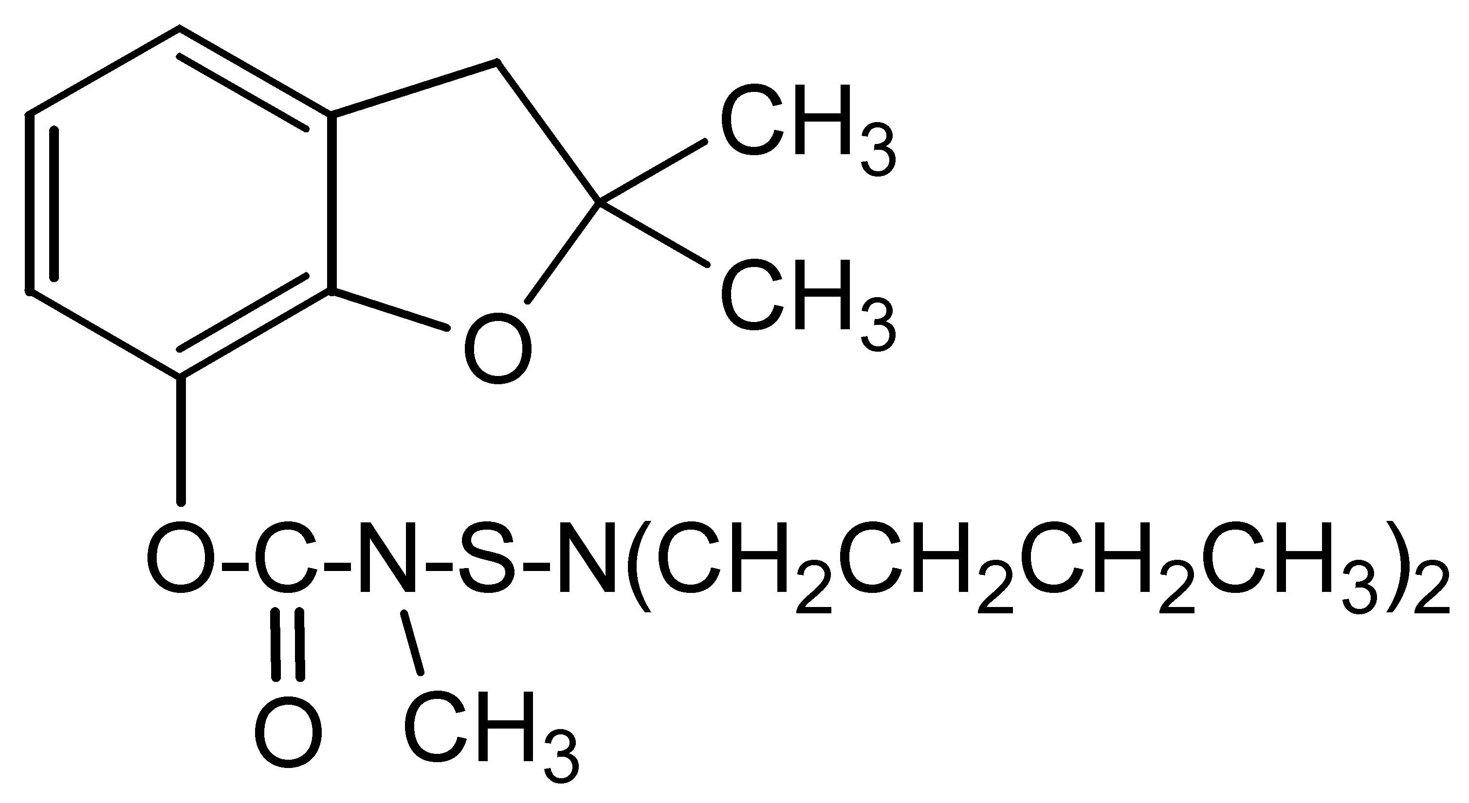 Chemical Structure for Carbosulfan