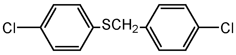 Chemical Structure for Chlorbenside