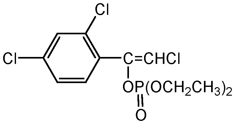 Chemical Structure for Chlorfenvinphos