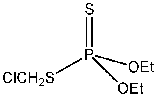 Chemical Structure for Chlormephos