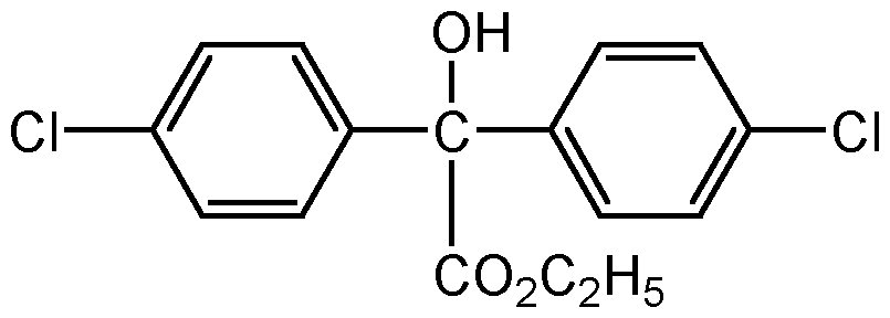 Chemical Structure for Chlorobenzilate