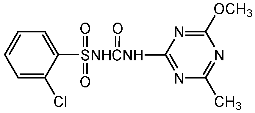 Chemical Structure for Chlorsulfuron