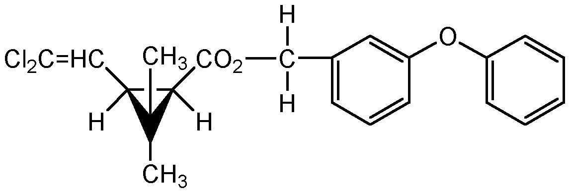 Chemical Structure for cis-Permethrin