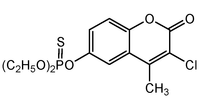 Chemical Structure for Coumaphos