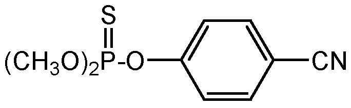 Chemical Structure for Cyanophos