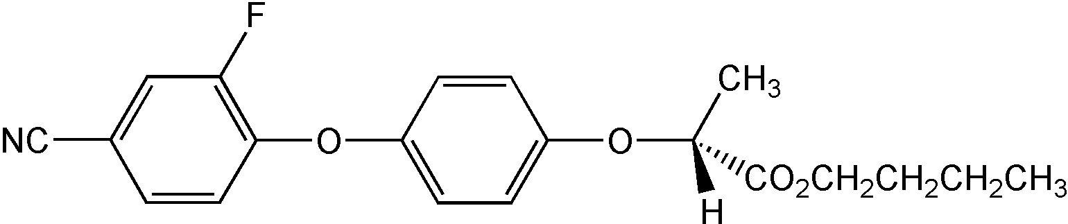 Chemical Structure for Cyhalofop-butyl