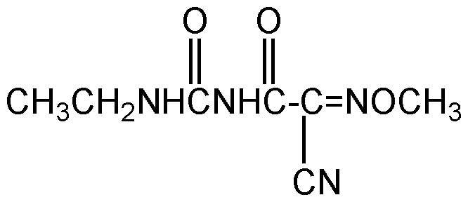 Chemical Structure for Cymoxanil