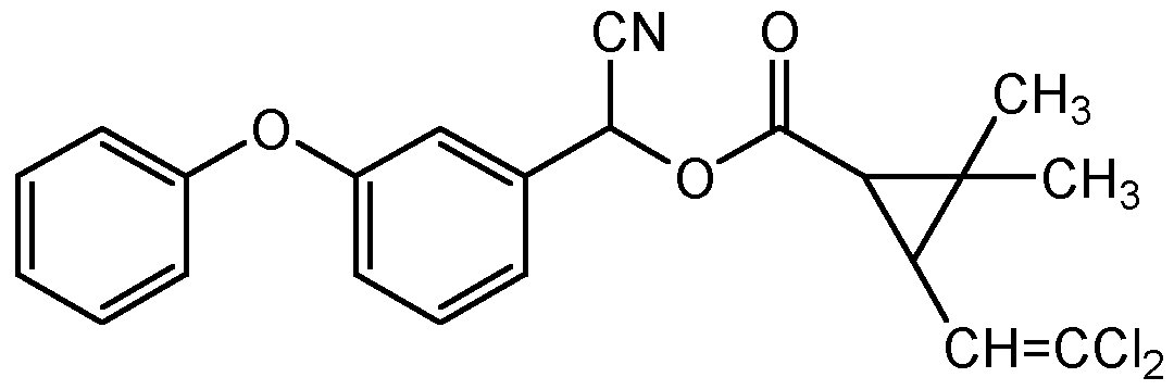 Chemical Structure for Cypermethrin