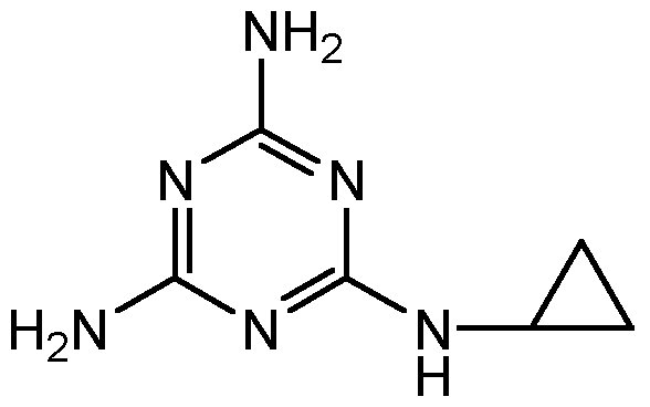 Chemical Structure for Cyromazine
