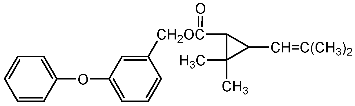 Chemical Structure for d-(cis-trans)-Phenothrin