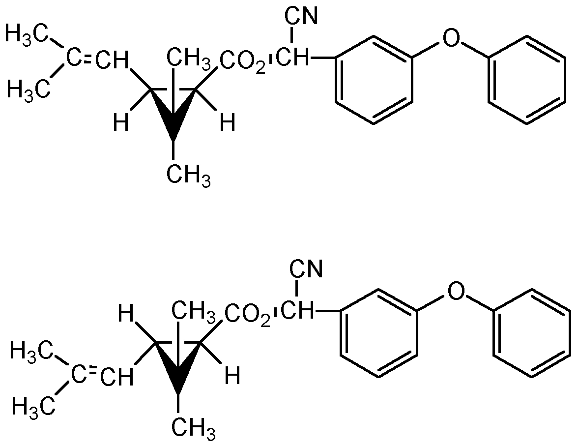 Chemical Structure for d-trans-Cyphenothrin