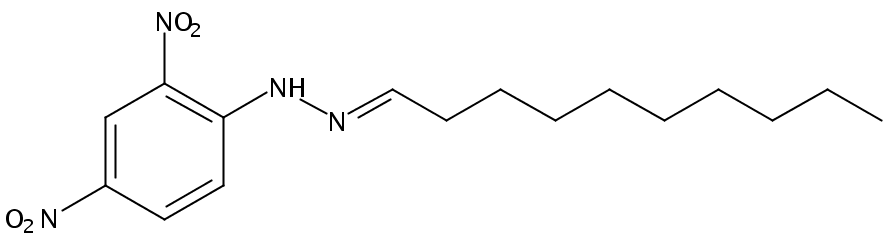 Chemical Structure for Decyl aldehyde (DNPH Derivative)