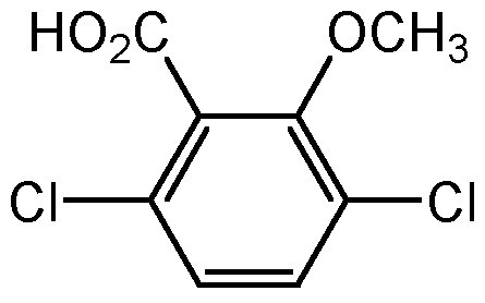 Chemical Structure for Dicamba