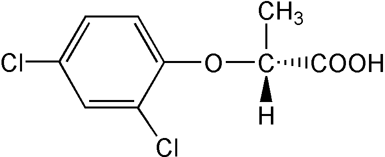 Chemical Structure for Dichlorprop-P