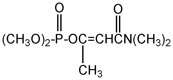 Chemical Structure for Dicrotophos