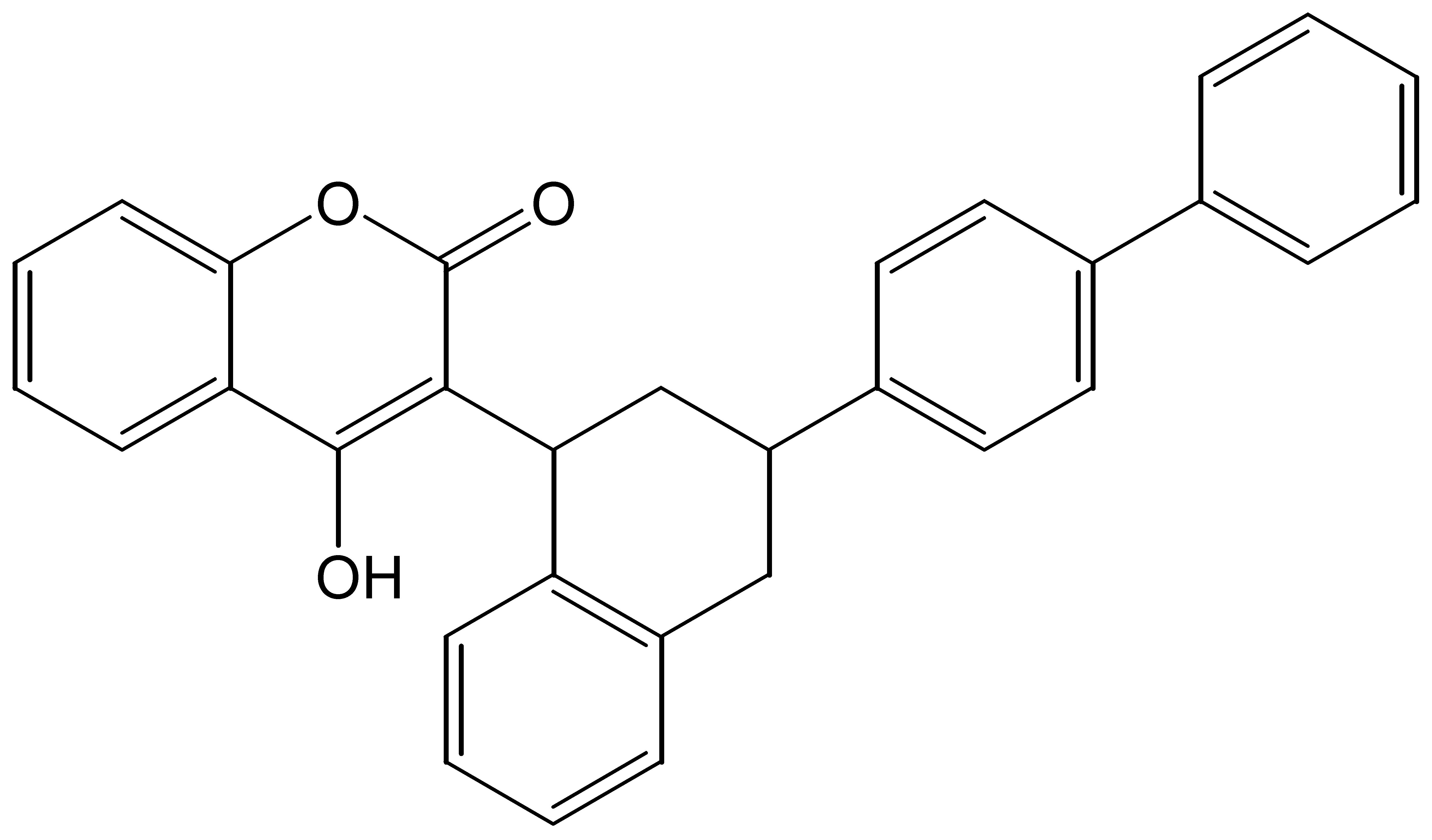 Chemical Structure for Difenacoum