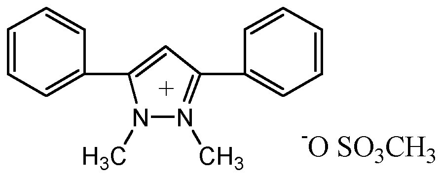Chemical Structure for Difenzoquat methylsulfate
