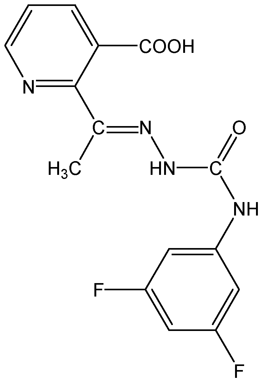 Chemical Structure for Diflufenzopyr