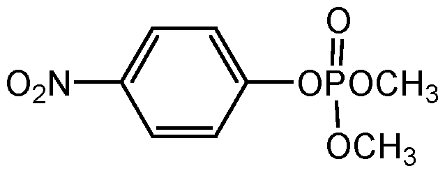 Chemical Structure for Dimethyl-p-nitrophenylphosphate