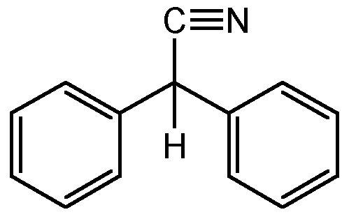 Chemical Structure for Diphenylacetonitrile