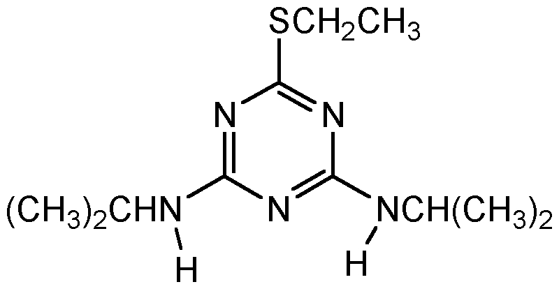 Chemical Structure for Dipropetryn