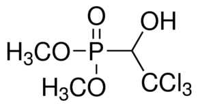 Chemical Structure for Trichlorphon