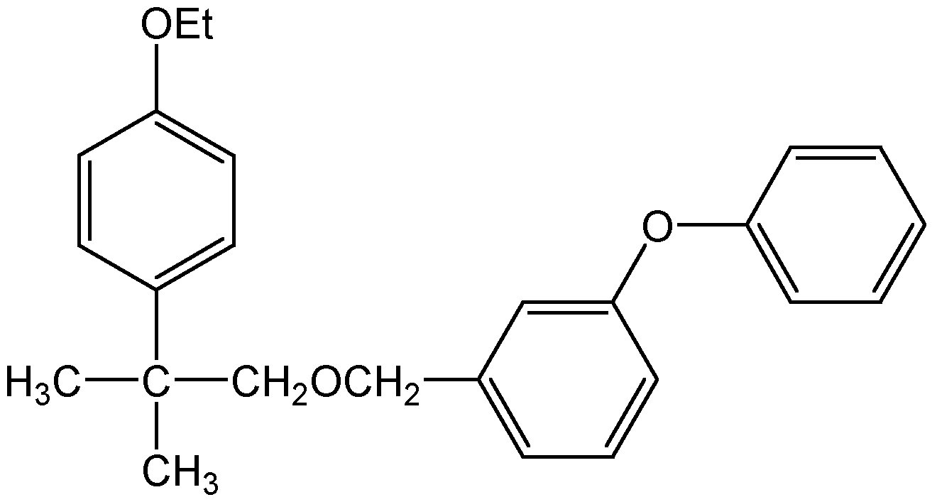 Chemical Structure for Etofenprox