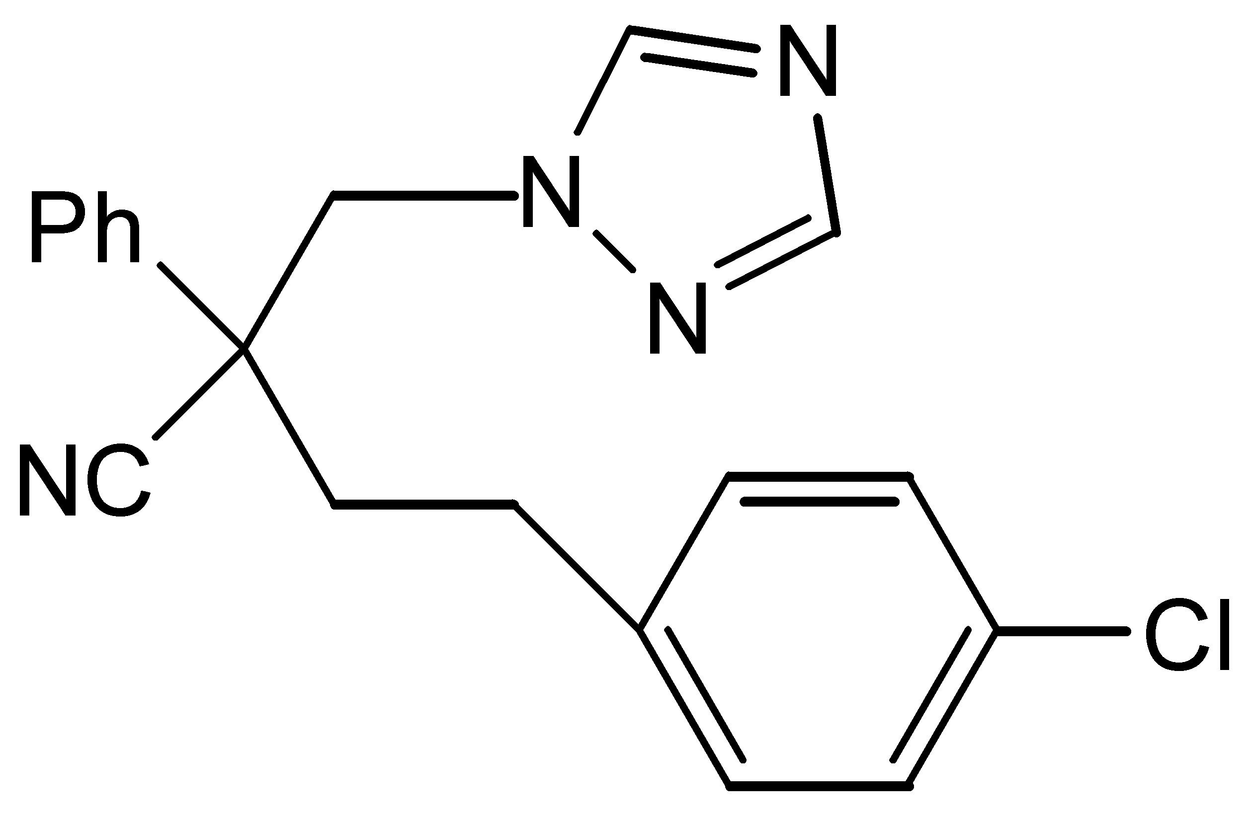 Chemical Structure for Fenbuconazole