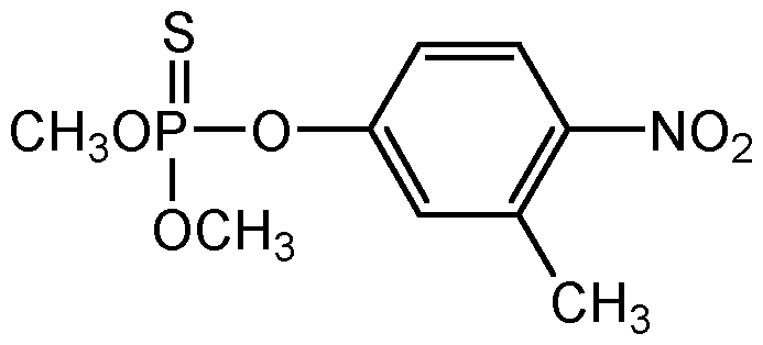 Chemical Structure for Fenitrothion