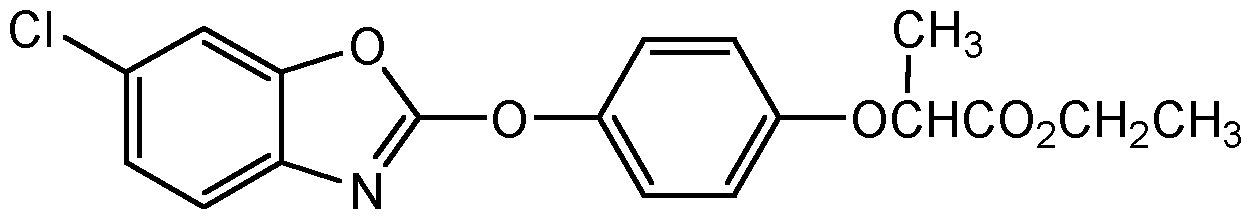 Chemical Structure for Fenoxaprop ethyl