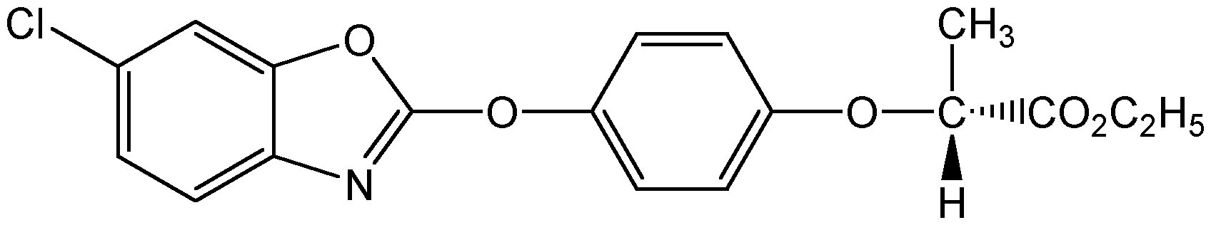 Chemical Structure for Fenoxaprop-P-ethyl