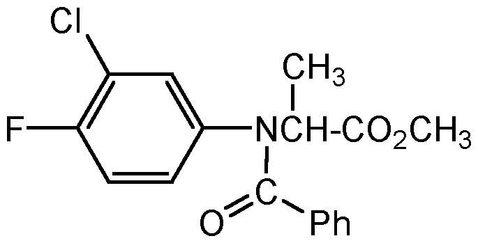 Chemical Structure for Flamprop-methyl
