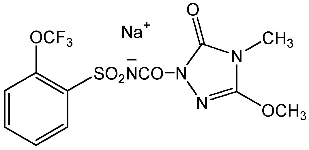 Chemical Structure for Flucarbazone-sodium