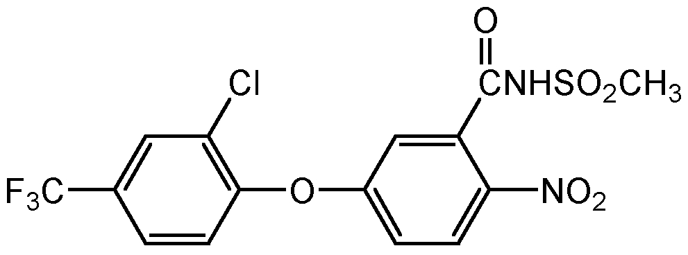 Chemical Structure for Fomesafen