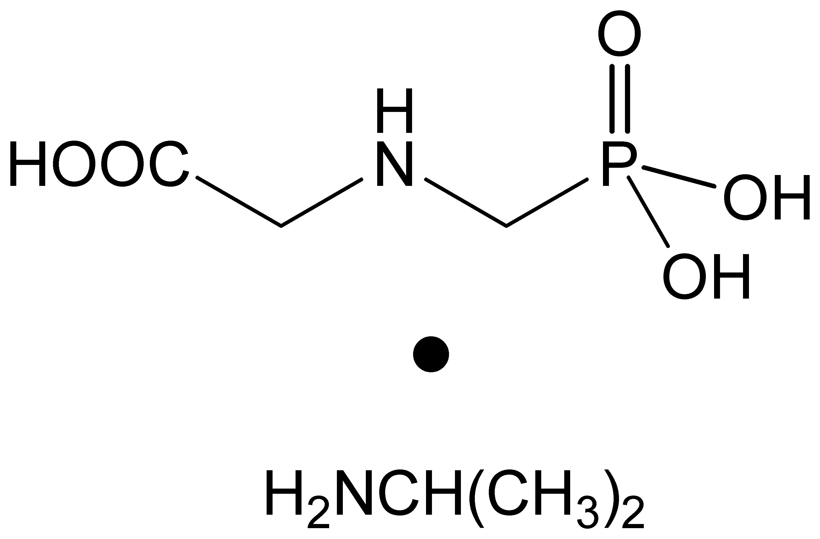Chemical Structure for Glyphosate-isopropylammonium
