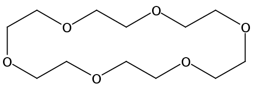 Chemical Structure for Hexaoxacyclooctadecane