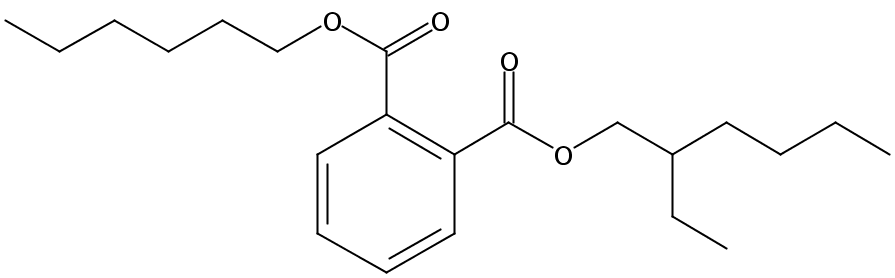 Chemical Structure for Hexyl 2-ethylhexyl phthalate(Technical)