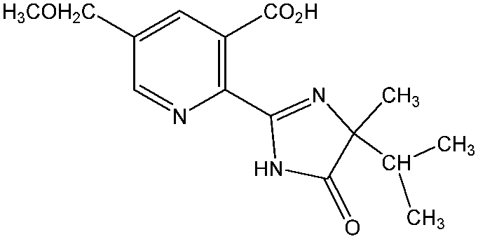 Chemical Structure for Imazamox