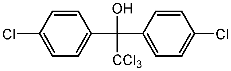 Chemical Structure for Dicofol